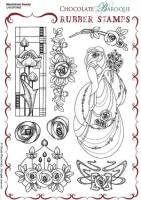 CB05 - Mackintosh Beauty Unmounted Rubber stamp sheet - A5 - UA5SP0460