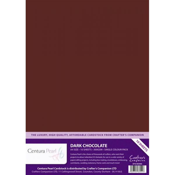 Crafters Companion Dark Chocolate - Centura Pearl A4 Printable Card Pack (1