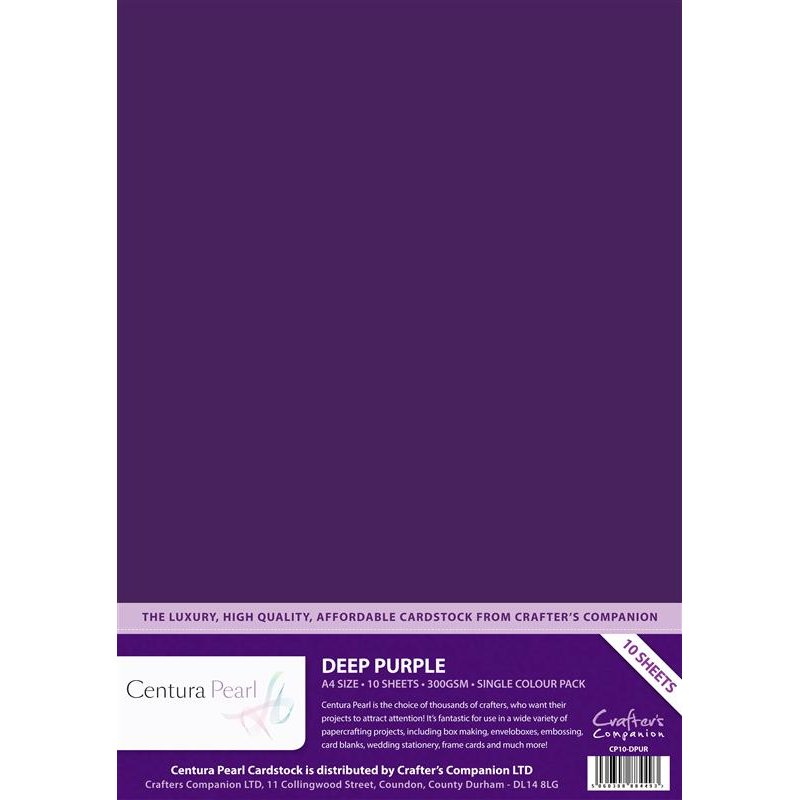 Crafters Companion - Centura Pearl - Deep Purple - A4 Printable Card Pack