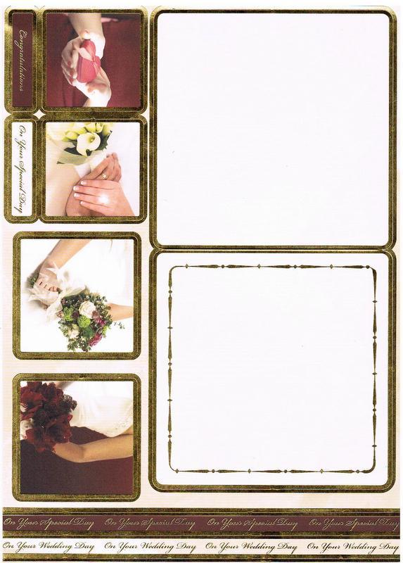 CON8015 - Wedding Concept Card. Die Cut.