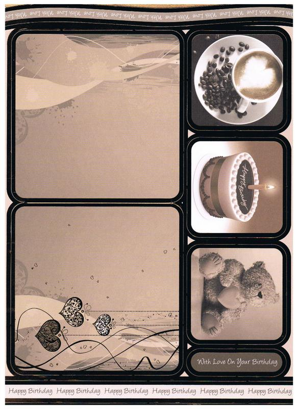 CON8065 - Coffee & Cream Concept Card - Die Cut