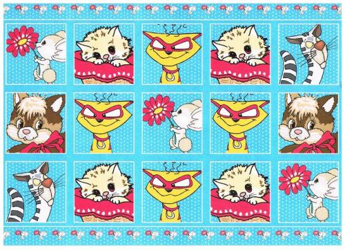 Cute & crazy cats non die cut toppers with co-ordinated backing card.