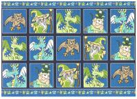 PCT8075 - Magical Wizards paper craft toppers and co-ordinating backing card.