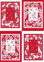 PCT8006/7 - Floral Frames - 2 A4 sheets of die cut paper craft toppers. 1 x Red, 1 x Black