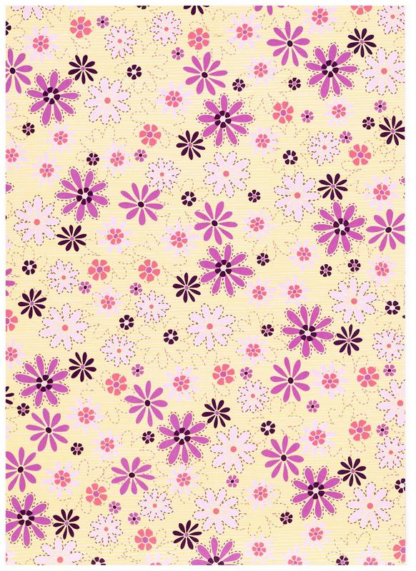 Funky Daisy 300gsm quality card. (CRD8056)