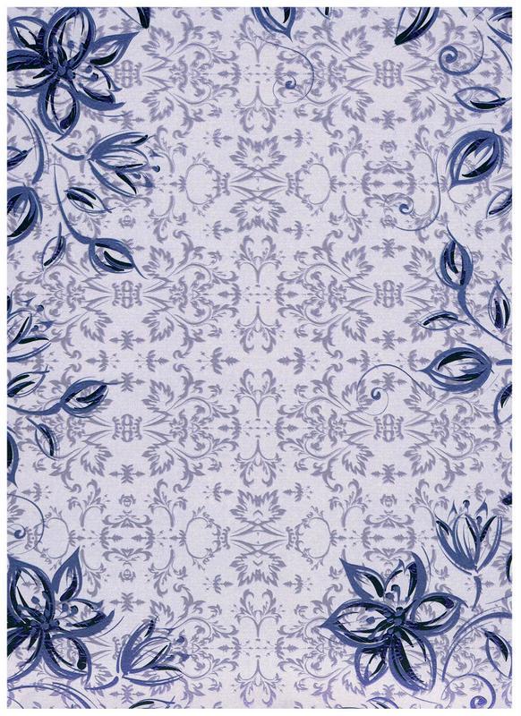 Pearl Glaze Siena - Indigo Blue textured background card (CRD9748)