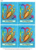 Star Sign classic style decoupage. Scorpio