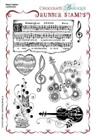 Music Fanfare A5 un-mounted rubbe stamp - UA5SP0363