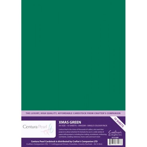 Crafters Companion - Centura Pearl - Xmas Green - A4 Printable Card Pack (1