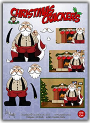 Christmas Crackers - Santa Die Cut Decoupage
