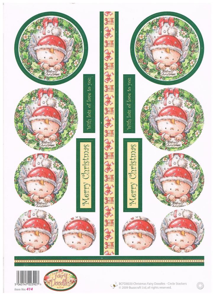 BCFD0020 - Christmas Fairy Doodles - Circle Stackers