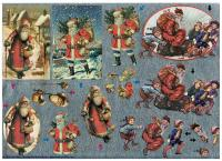 Dufex Traditional Foiled Santa Claus. 3 images to make up.