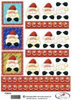 FGS - FGS0333 - Santa 3D decoupage. Toppers ideal for a waterfall card.