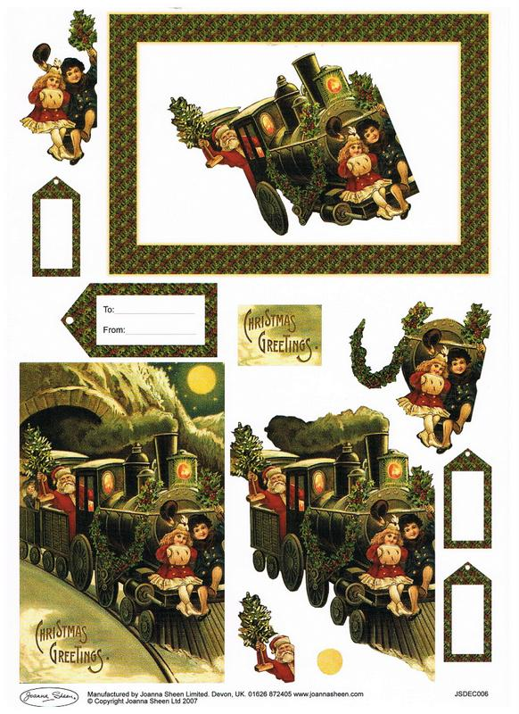 Joanna Sheen 3D Christmas Decoupage - JSDEC006-7