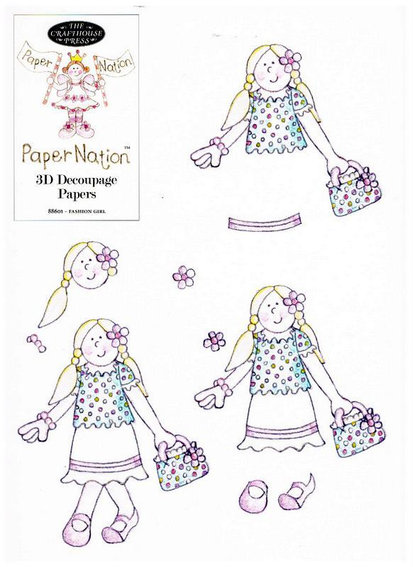 88601 - Fashion Girl with backing paper - Easy to cut out.