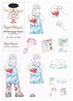98301- Baking Lady (senior) with matching backing paper. Easy to cut out 3d decoupage.