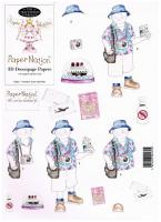 63301 - Tourist Man (Senior). 3D decoupage with matching backing sheet.