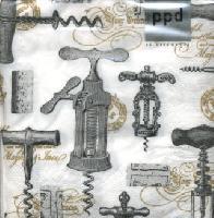 Corkscrews Napkin. 25 cm x 25 cm