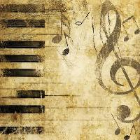 Piano napkin - 25 cm x 25 cm