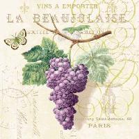 Purple Grapes napkin. 25 cm x 25 cm