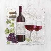 Vino Rosso napkin. 25 cm x 25 cm