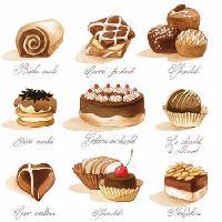 Petits Chocolates napkin. 25 cm x 25 cm