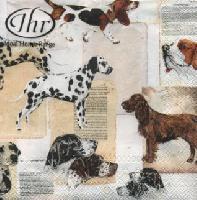 Best Dog Breeds napkin. 25 cm x 25 cm