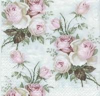 Rose napkins. 25 cm x 25 cm
