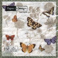 Vintage Butterflies napkins. 33 cm x 33 cm