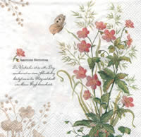 Anemone Nemorosa napkin. 33 cm x 33 cm