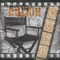 Movie Time Napkin. 33 cm x 33 cm