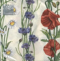 Summer Flower cream napkin. 33 cm x 33 cm