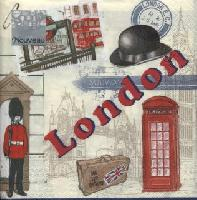 London napkin. 33cm x 33cm