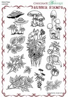 CB02 - Autumn Poppy - UA4SP0496 - A4 un-mounted grey rubber stamp sheet