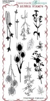 Autumn Hedgerow - UDLSP0234 - DL grey rubber stamp