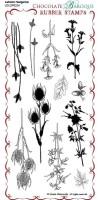 CB01 - Autumn Hedgerow - UDLSP0234 - DL grey rubber stamp