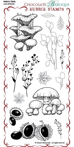 Nature Table - UDLSP0235 - Grey rubber stamp