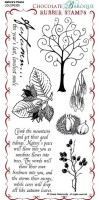 Nature's Peace - UDLSP0305 - Grey un-mounted rubber stamp