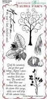 CB13 - Nature's Peace - UDLSP0305 - Grey un-mounted rubber stamp