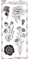 CB04 - Fresh Florals - UDLSP0320 - Grey rubber un-mounted stamp