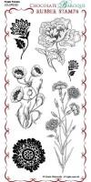 CB04 - Fresh Florals - UDLSP0320 - Grey rubber un-mounted stamp