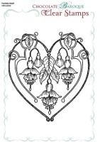 Fuchsia Heart - CBCL0032 - Clear Stamps