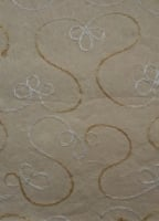 Embroidered handmade hand made papers. Light beige background - A5 - Pack of 10