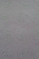 Embroidered hand made papers. Light purple background with silver stitching - A5 - Pack of 10