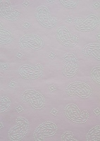 Embossed hand made paper with a light pink background. The white embossed design is raised for texture.