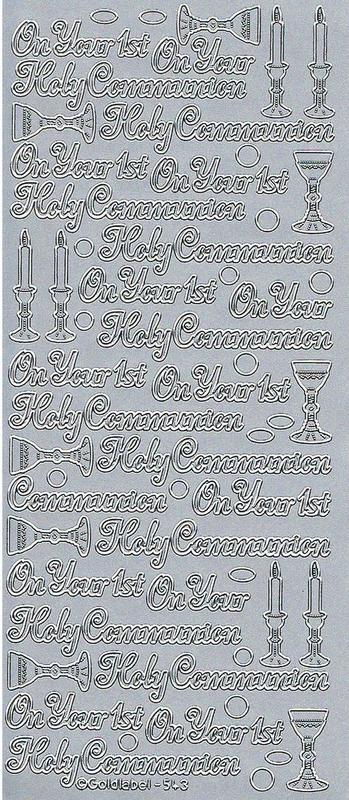 On Your 1st Holy Communion Stickers