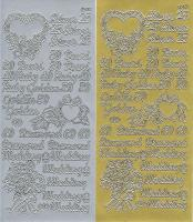 Sticker 167 - Silver 25, 30 Pearl, 40 Ruby, Goldern 50, 60 Diamond & Wedding wordings
