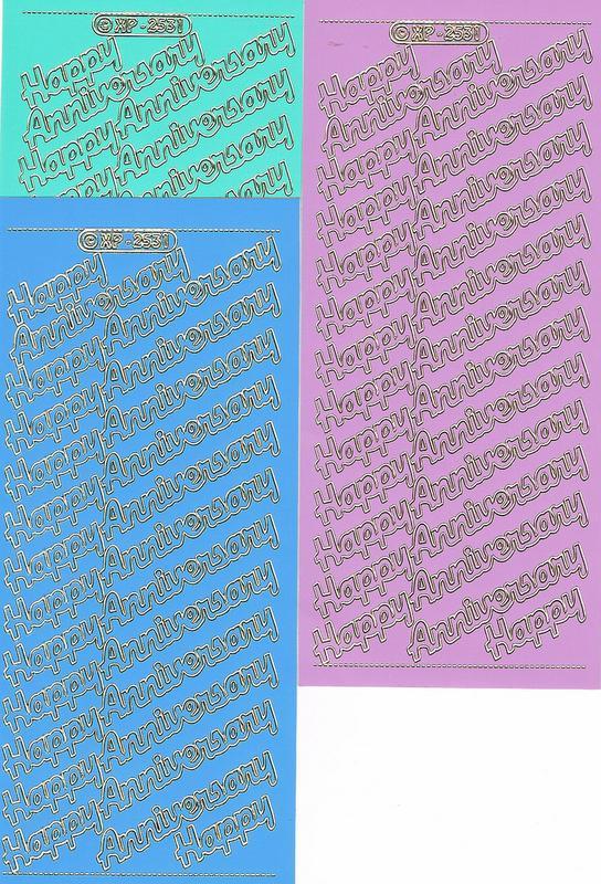 Stickers XP 2531 - Happy Anniversay x 13