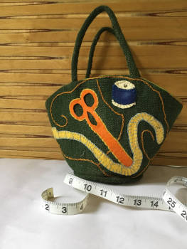 Vintage handmade Sewing or Knitting bag