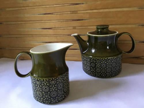 Teapot and Milk Jug Retro 1970's Connemara Celtic
